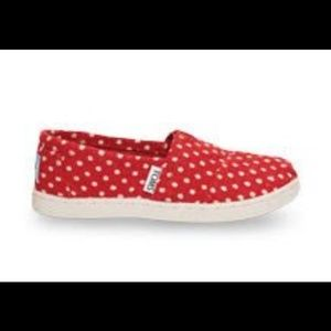 TOMS red polka dots classics, US Women size 6.5